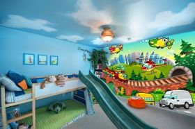 Mural Wall Art Children's World, Glowing in the dark, 3.66 x 2.56 m