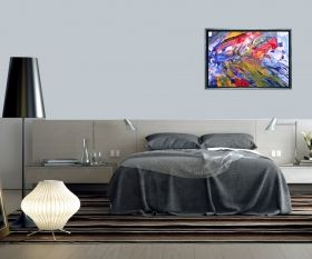Luxury Framed Wall Art The color of life I, Glowing in the dark, 50 x 70 cm