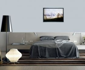 Luxury Framed Wall Art Boat on Elba, Glowing in the dark, 50 x 70 cm