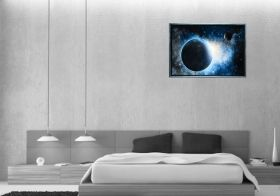 Luxury Framed Wall Art Cosmos, Glowing in the dark, 70 x 100 cm