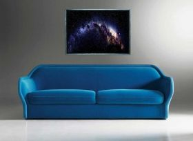 Luxury Framed Wall Art The Milky way, Glowing in the dark, 50 x 70 cm