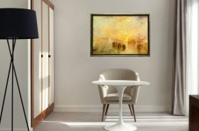 Luxury Framed Wall Art Sunset, Glowing in the dark, 50 x 70 cm