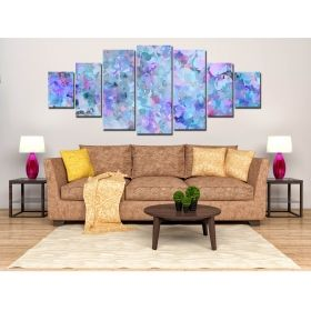 Set Tablou Abstract pastelat, 7 piese, luminos in intuneric, 100 x 240 cm (1 piesa 40 x 100 cm, 2 piese 35 x 90 cm, 2 piese 30 x 60 cm, 2 piese 30 x 40 cm)
