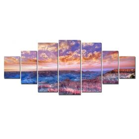 Canvas Wall Art The Great Canyon, Glowing in the dark, Set of 7, 100 x 240 cm (1 panel 40 x 100 cm, 2 panels 35 x 90 cm, 2 panels 30 x 60 cm, 2 panels 30 x 40 cm)