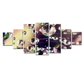 Canvas Wall Art Dew, Glowing in the dark, Set of 7, 100 x 240 cm (1 panel 40 x 100 cm, 2 panels 35 x 90 cm, 2 panels 30 x 60 cm, 2 panels 30 x 40 cm)