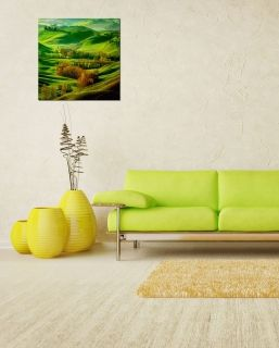 Tablou PlexiglasVerde pe deal, luminos in intuneric, 60 x 60 cm