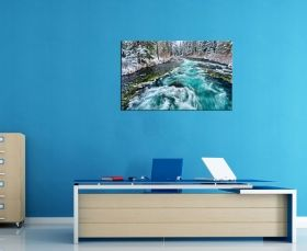 Glass Wall Art The lake in winter, Glowing in the dark, 60 x 90 cm