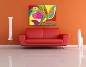 Glass Wall Art Harmony of Colors by Diana, Glowing in the dark, 60 x 90 cm