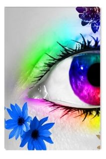 Glass Wall Art The colors of the Eye I by Diana, Glowing in the dark, 60 x 90 cm