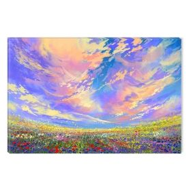 Canvas Wall Art Colorful sky, Glowing in the dark, 80 x 120 cm