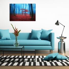 Canvas Wall Art Red Fog, Glowing in the dark, 80 x 120 cm