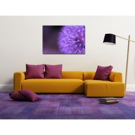 Canvas Wall Art Purple dandelion, Glowing in the dark, 80 x 120 cm