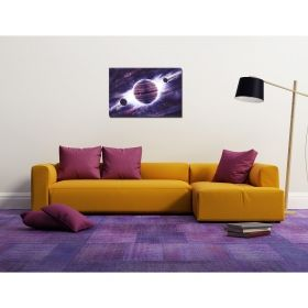 Tablou Univers violet, luminos in intuneric, 60 x 90 cm