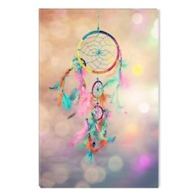 Canvas Wall Art Dream Catcher ll, Glowing in the dark, 60 x 90 cm