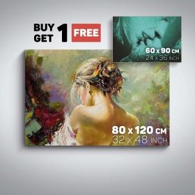 Canvas Wall Art Love Woman Back and Adam And Eve Buy one Get Two Bundle Offer